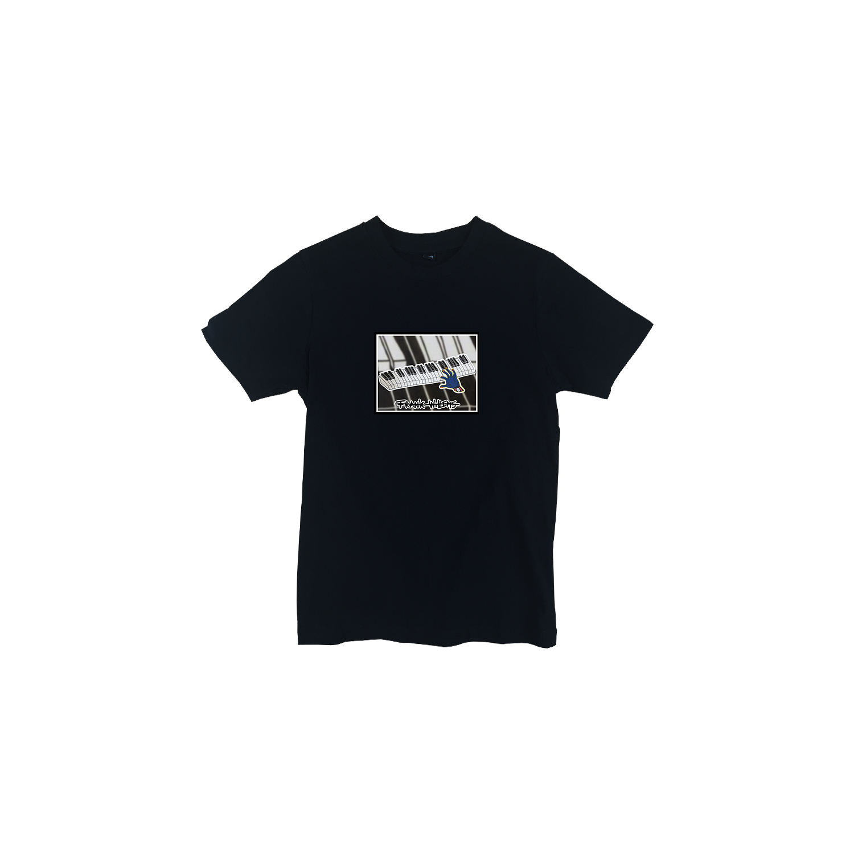 Kids T-shirt black - ONE PRESS CLOSER TO MUSIC - Frank Willems