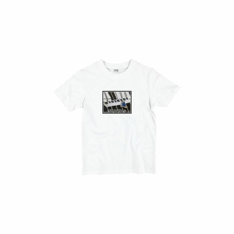 KIDS T-SHIRT - ONE PRESS CLOSER TO MUSIC - WHITE