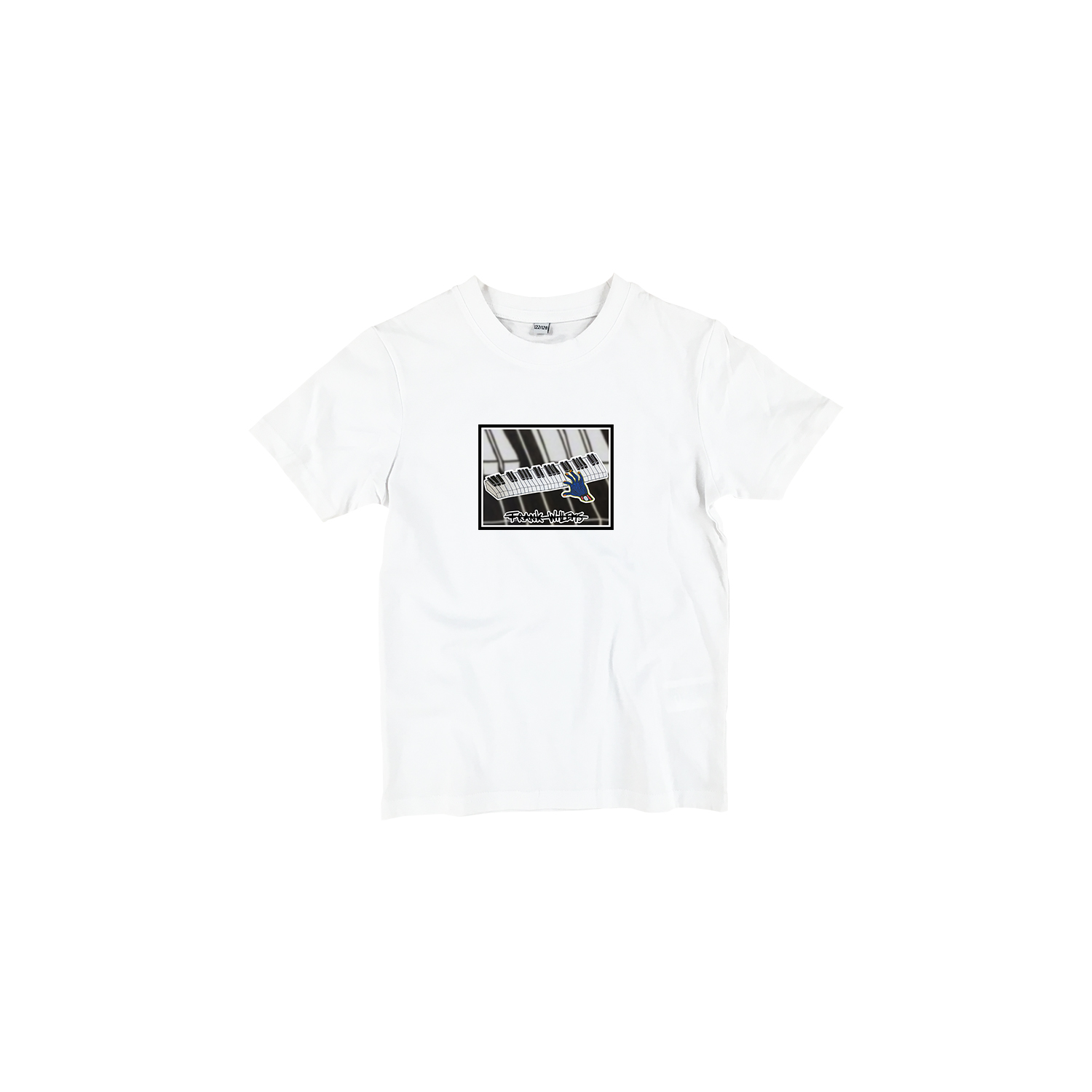Kids T-shirt white - ONE PRESS CLOSER TO MUSIC - Frank Willems