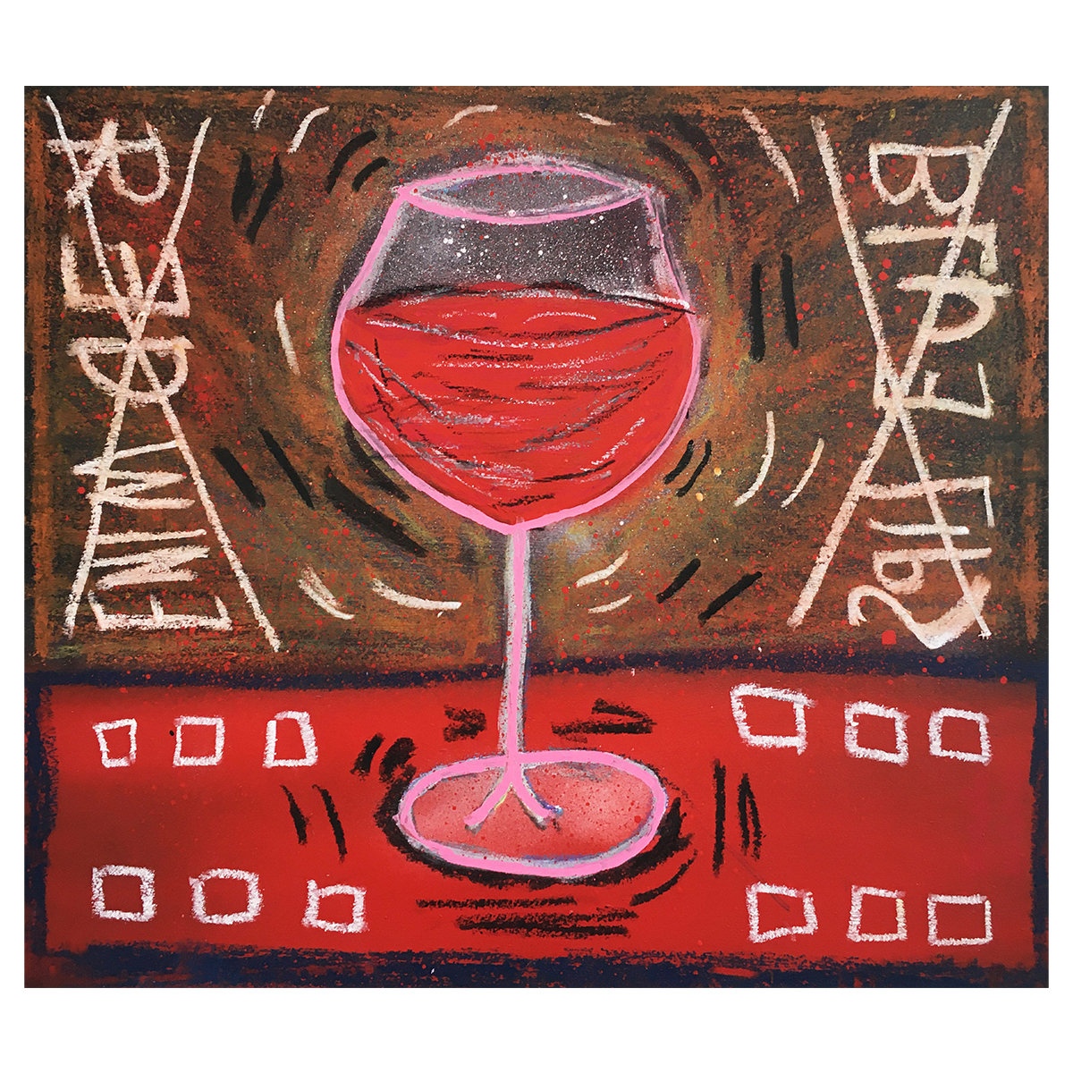 RED WINE BLUE LIPS - Frank Willems