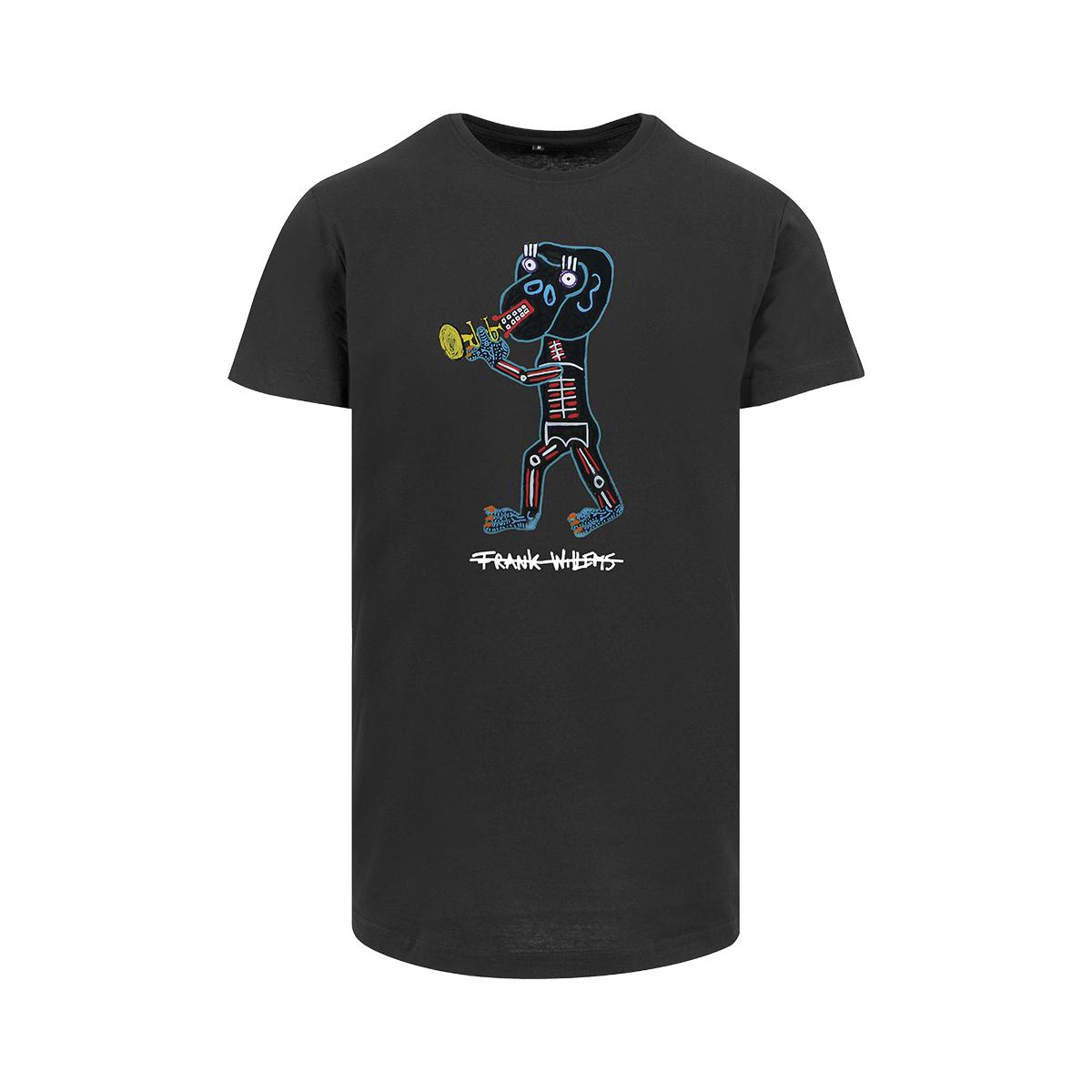 Frank Willems - Longfit T-shirt - EL MONO TROMPETISTA - BLK