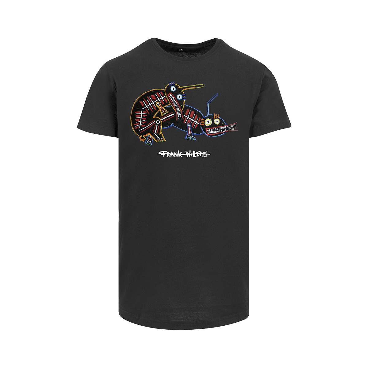 Frank Willems - Longfit T-shirt - NO STRINGS ATTACHED - BLK