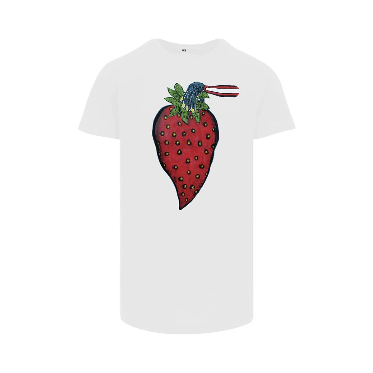 Frank Willems - Longfit T-shirt - Yummy Strawberry - WHT