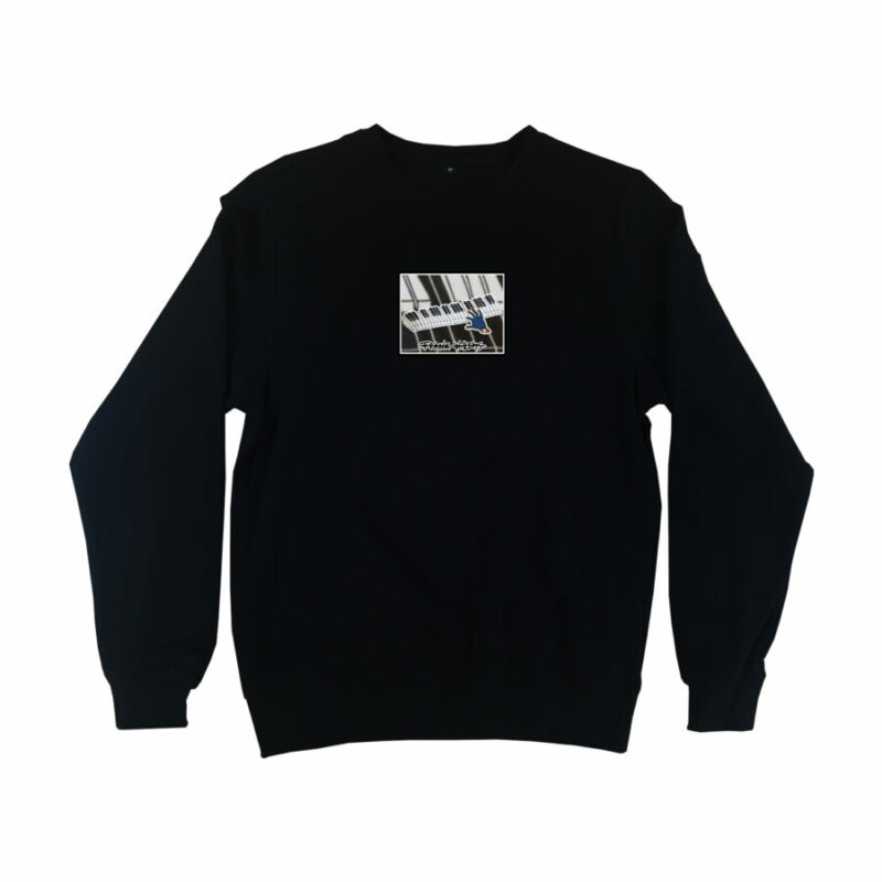SWEATER - ONE PRESS CLOSER TO MUSIC - BLACK