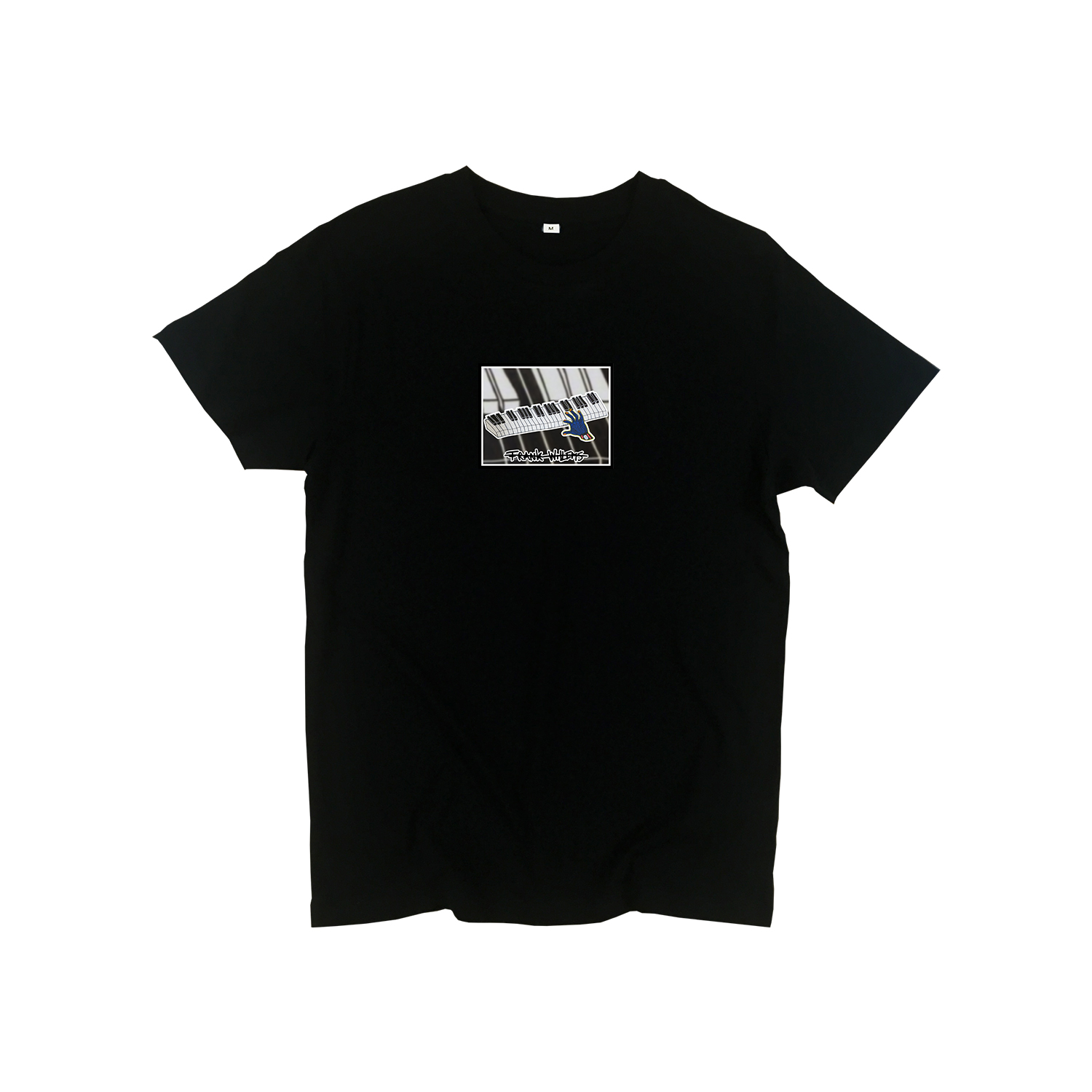 T-shirt black - ONE PRESS CLOSER TO MUSIC - Frank Willems