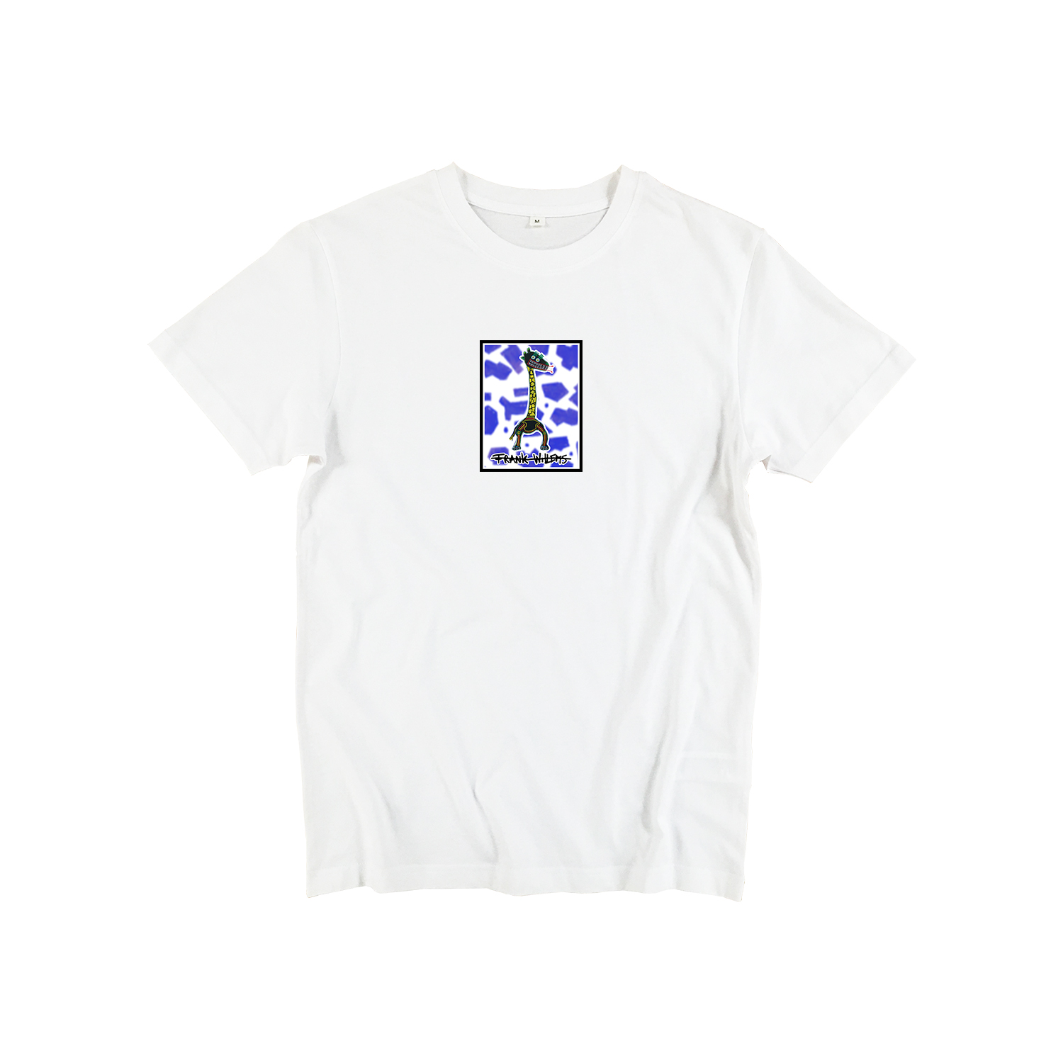 T-shirt white - CRICK IN NECK - Frank Willems