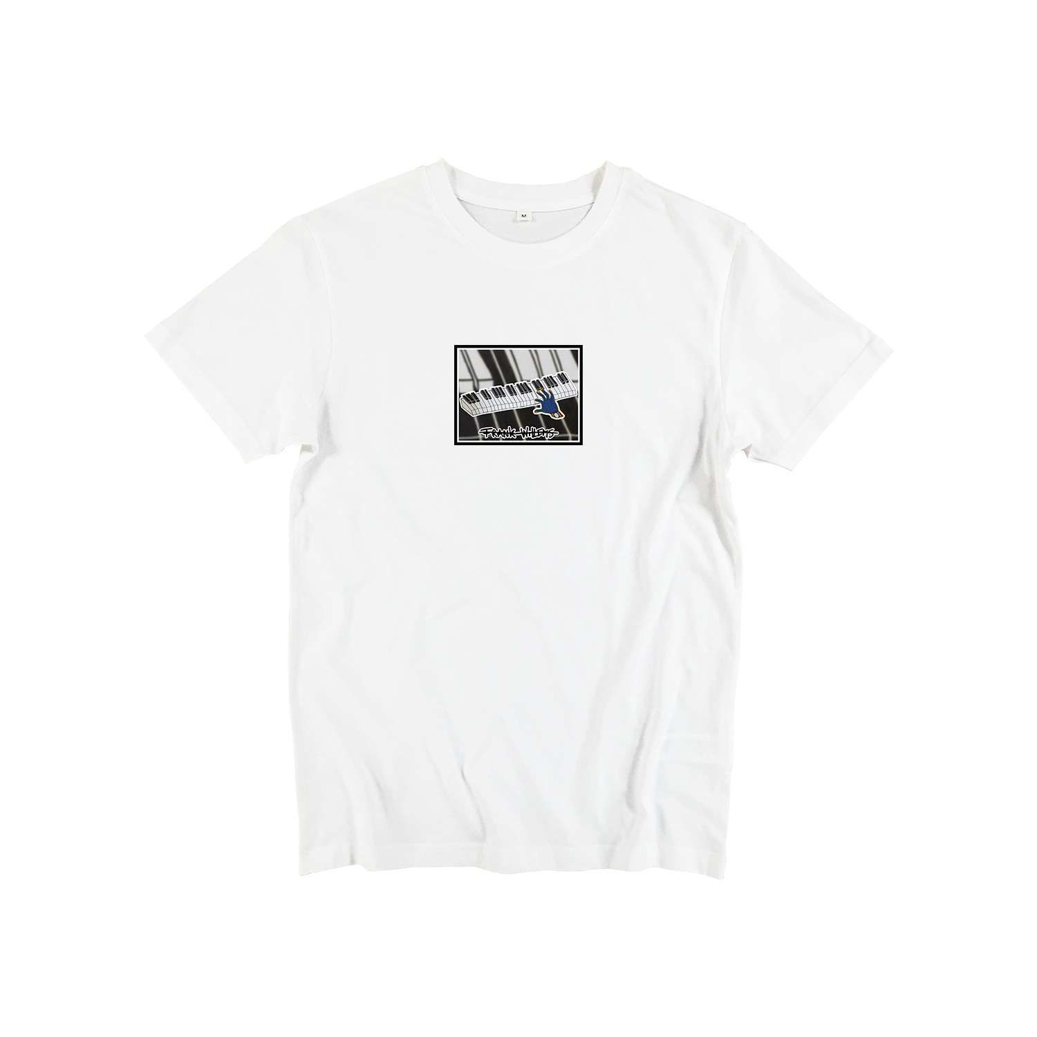 T-shirt white - ONE PRESS CLOSER TO MUSIC - Frank Willems