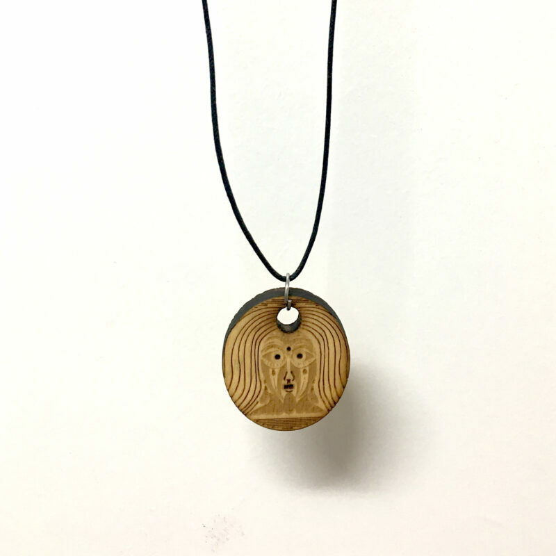 THIRD EYE 04 - WAXED COTTON CORD NECKLACE - Back - Frank Willems
